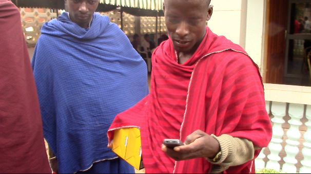 Maasai using mobile payment technology